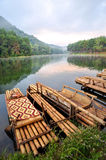 Round raft @Pangung. Round raft at pangung maehongson Stock Photos