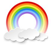 Round rainbow in the clouds. Illustration royalty free illustration