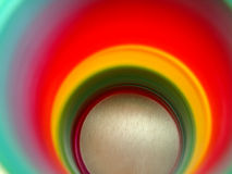 Round rainbow colors. Of a slinky Royalty Free Stock Photos