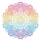 Round rainbow mandala background. Royalty Free Stock Images