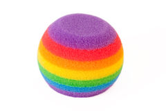 Round rainbow sponge Royalty Free Stock Image
