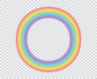 Round rainbow on a transparent background. A beautiful natural phenomenon in the sky. Royalty Free Stock Photo