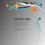 Round rama dla teksta z eleganckim abstrakcjonistycznym motywem ilustracji