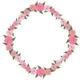 Round rama róże z liśćmi różni rozmiary Czułość, poślubia Obrazy Royalty Free