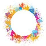 Round rama robić farb plamy ilustracji