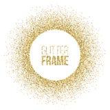 Round rama robić złota błyskotliwość odizolowywająca na białym tle Wektorowa złota rama Obrazy Stock