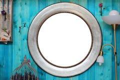 Round rama w wnętrzu obraz stock
