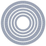 Round rama z grka wzorem Obraz Stock