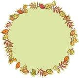 Round rama z jesień liśćmi Zdjęcie Stock