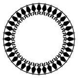 Round rama z nietoperzami royalty ilustracja