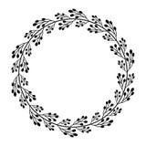 Round rama z prostymi abstrakcjonistycznymi czerni gałąź royalty ilustracja