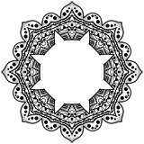 Round rama z wzorem Ośmioboczny wzór dla kolor książki Zdjęcia Royalty Free