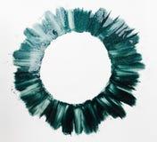 Round rama zielony gwoździa połysk maluje bezpłatną przestrzeń Zdjęcie Stock