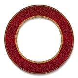 Round ramowy rubinowy kolor z cieniem ilustracja wektor