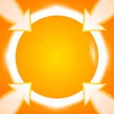 Round ramowych strzała jaskrawy pomarańczowy tło Ilustracji