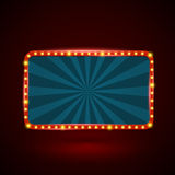 Round rectangle retro light banner Royalty Free Stock Photography