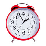 Round red alarm clock Royalty Free Stock Images