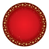 Round red background for christmas - vector Stock Photography
