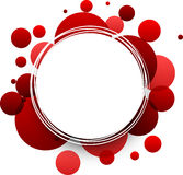 Round red background. Royalty Free Stock Photos