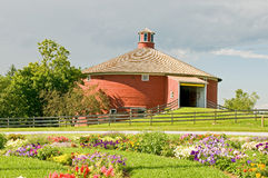 Round red barn. Used as a museum at Shelbourne, Vermont Royalty Free Stock Images
