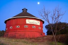 Round red barn. At Fountaingrove Santa Rosa, California Royalty Free Stock Photo