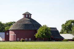 Round red barn Royalty Free Stock Images