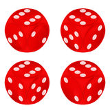 Round red dice object set isolated Stock Images