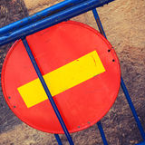 Round red sign No Entry Royalty Free Stock Images