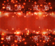 Round red sparkling spots mosaic Stock Images