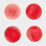 Round red spots. The texture of acrylic. Blurred ink . Royalty Free Stock Photos