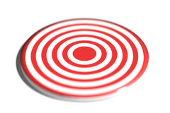 Round red and white target Royalty Free Stock Image