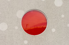Round red window Royalty Free Stock Photography