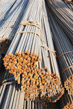 The round reinforcing steel rods Royalty Free Stock Images
