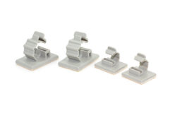 Round Releasable Cable Clamps Royalty Free Stock Photo