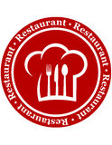 Round restaurant icon Stock Photography