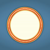 Round Retro Banner Royalty Free Stock Photos