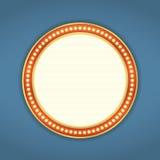 Round Retro sztandar Zdjęcia Royalty Free