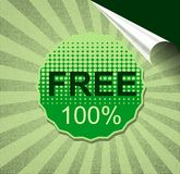 Free of charge sticker Stock Photo