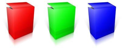 Round RGB pudełko Oprogramowania pudełko Obrazy Stock