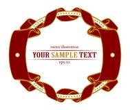 Round ribbon emblem Stock Image