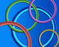 Round Rings Wallpaper. Great for a background or wallpaper vector illustration