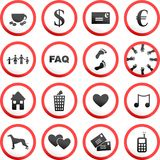 Round road signs royalty free illustration