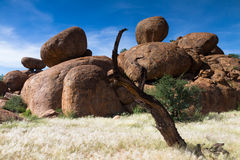 Round rocks at Damaraland Stock Photography