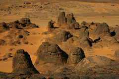 Round rocks in the desert Royalty Free Stock Photography