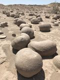 Round Rocks in Desert. Round Rocks at the Pumpkin Patch in Anza-Borrego Desert State Park, California Royalty Free Stock Photography