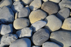 Round Rocks Smoothed by the Water Royalty Free Stock Images