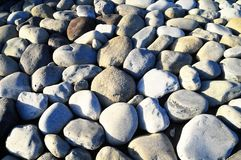 Round Rocks Smoothed by the Water Royalty Free Stock Photography