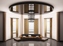 Round room interior 3d Royalty Free Stock Photography