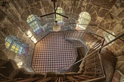 Round room in tower Royalty Free Stock Photo