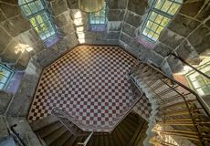 Round room in tower Stock Photo